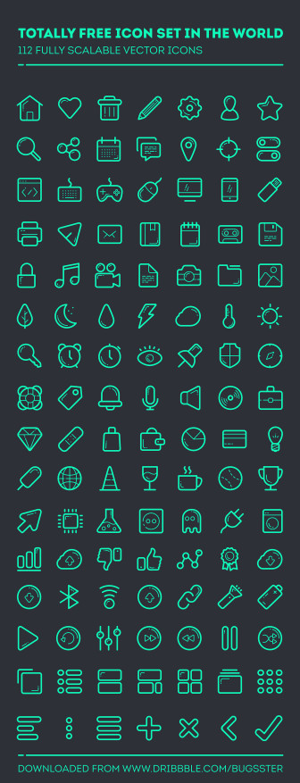 112 Free Vector Icon Set