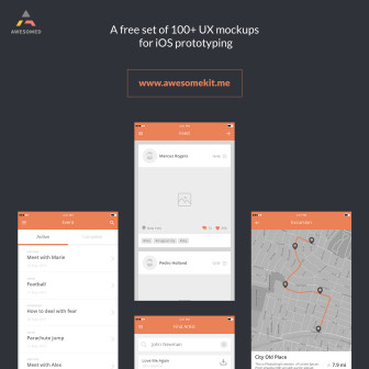 100+ UX Mockups for iPhone and iPad