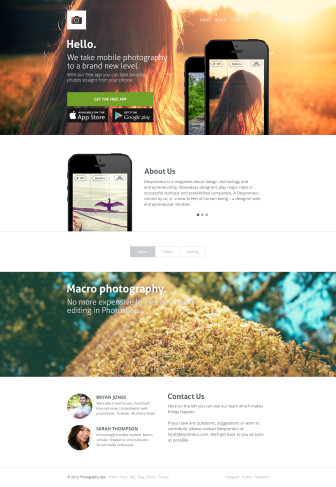 Free App Landing Page Template