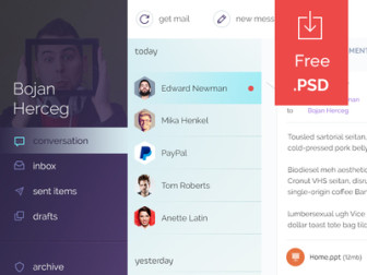 Mail Client Template PSD