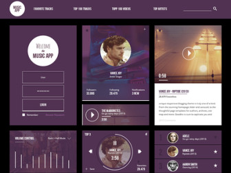 Free Music UI Kit PSD