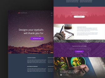 Pex Free Homepage Template PSD