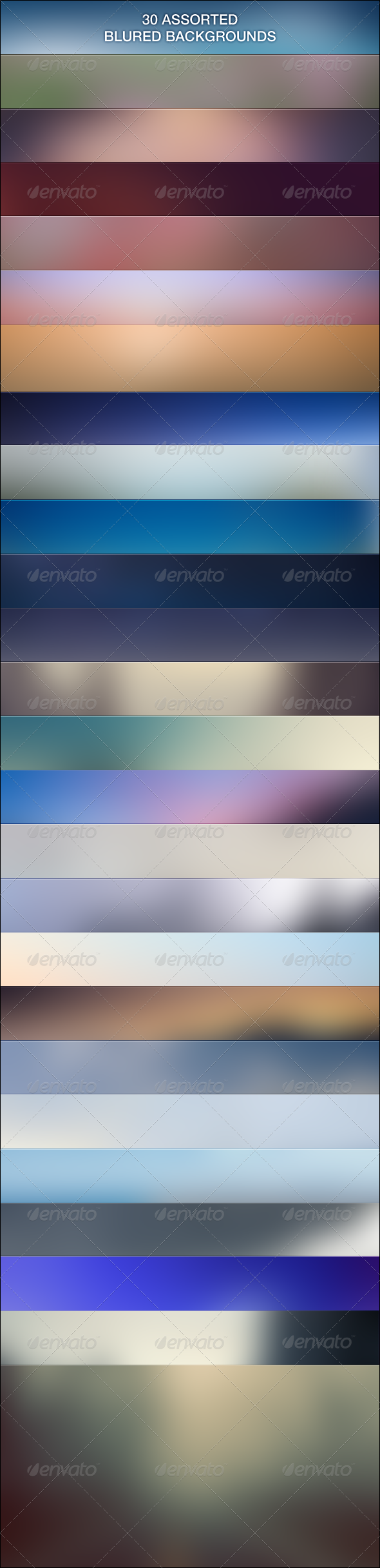 30 Free Assorted Blur Backgrounds