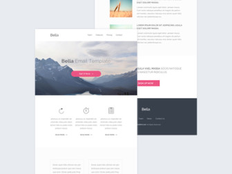 Bella Email Template PSD