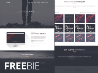 Spirit8 Free Web Template