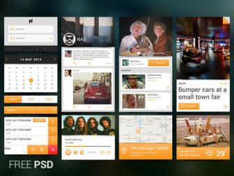 Mobile UI Kit PSD