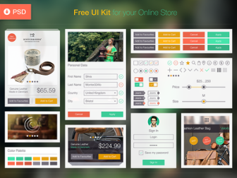 Free Ecommerce iOS 8 UI Kit