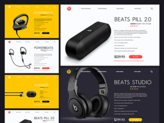 Beats Page Mockups Freebie Sketch File