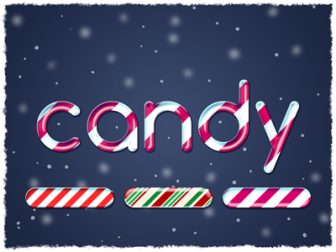Free Candy Cane Text Effect