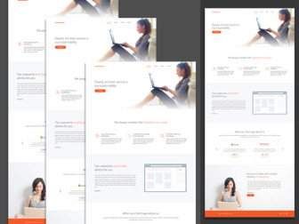 Responsive Services Template PSD
