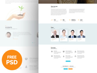 Free Business Web Template PSD